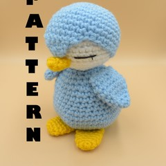PATTERN Pengu the mini penguin - Crochet penguin, amigurumi toy penguin, soft cu