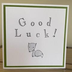 Good Luck! Handmade card