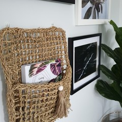 Seagrass Wall Storage Pouch