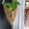 Suspended Seagrass Pouch/Basket