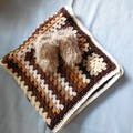 Baby Blanket , Booties and Baby Hedgehog