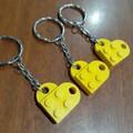 KEYRINGS - Heart Brick Keyrings