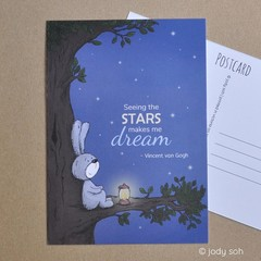 Seeing the Stars Makes Me Dream - Postcard