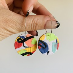 ABSTRACT SM CIRCLE HOOPS