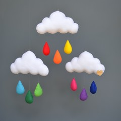 Cloud trio (Rainbow)