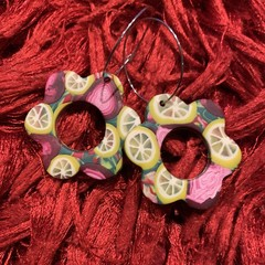 Luscious Lemon and Pomegranate Hoops