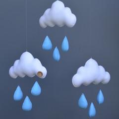 Cloud trio (blue)