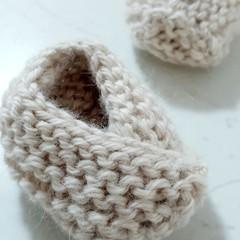Australian Alpaca Knitted Baby Booties