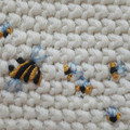 Hand-Embroidered Bumble Bee Baby Washer - 100% Cotton