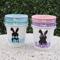 Personalised Easter Bucket Easter Bunny Egg Hunt 10 Designs Available