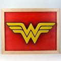 Wonder Woman DC Emblem Wax Painting Led Light Bo
