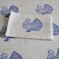 Tea Towel with Fancy Pigeon Linocut Print / Bird Print / Mothers Day Gift