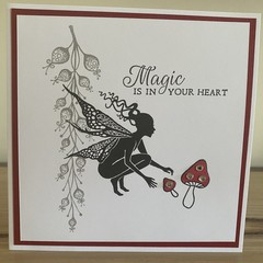 Magic is in your heart. Handmade card