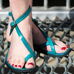 Venus - Adjustable Leather Sandal, choice of Size & Color, Pointed or Round Toe