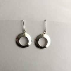 ***MADE TO ORDER*** Doughnut shaped domed earrings in sterling silver 925