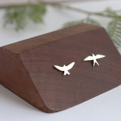 Mismatch Silver Bird Post Earrings