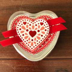 Decorated Heart Foil Baking Tins (10 of)