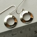 Doughnut shaped domed earrings in sterling silver 925