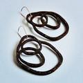 Space Loops Wooden Statement Earrings