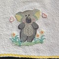 Babies Embroidered Towelling Bibs-AUS-KOALA