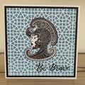 Be Brave. Handmade card