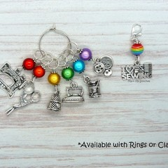 I Love Sewing Rainbow Marker Set | Stitch Markers, Crochet Markers, Knitting