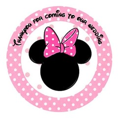 MINNIE MOUSE ROUND STICKERS