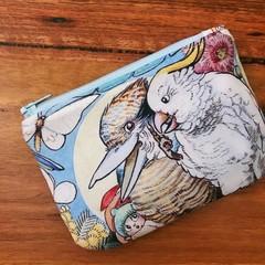 Coin Purse - May's Tales (Cockatoo & Kookaburra)