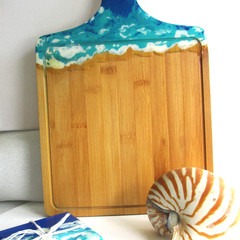 Resin Ocean themed Cheese Board Set 2  & a Free Knife