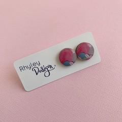 Fun Multi Colour Stud Earrings