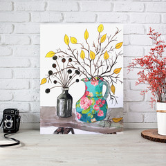Art Print - 8 x 10 - Still Life with Rose Vase