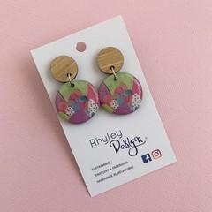 Fun Multi Colour Mountain Statement Earrings