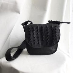 Acetaria cross body saddle bag - Wave pattern lining - FREE SHIPPING