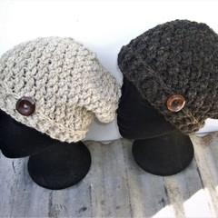Handspun Beanie - Hand Crocheted in Pure Australian Handspun Wool.