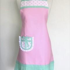 Pink & Mint Elegant Lace Australian Made Womens Kitchen Apron