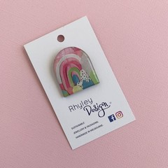 Bright Rainbow Arch Brooch