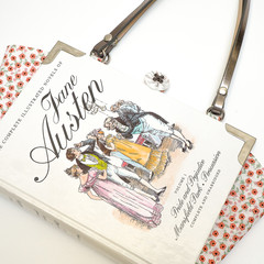 Jane Austen book bag - The Complete Illustrated Novels volume 1 - Upcycled book