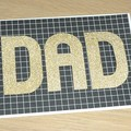 Dad Happy Birthday card or Fathers Day - black and gold