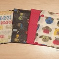 """beeswax food wraps x 5 """"dogs"""""""