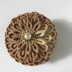 TSUMAMI ZAIKU Kanzashi Flower  [Brown1]