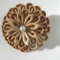 TSUMAMI ZAIKU Kanzashi Flower  [Brown2]