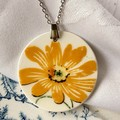 Bright Yellow Flowerpendant