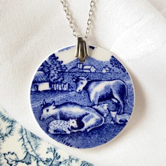 Cows in the Meadow pendant