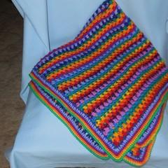 Rainbow Baby Blanket/Wrap/Bunny Rug