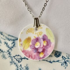 Royal Albert Purple Flowers pendant