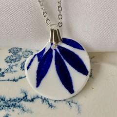 Blue Leaves pendant