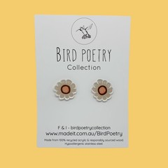 Autumn Bloom Flower Stud Earrings