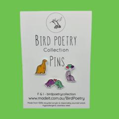 Cute Dinosaur Love Pins - Trio Pack