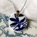 Blue Leaves pendant