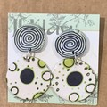 Psychedelic Moonscape Earings